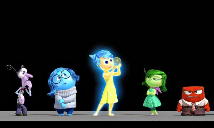 Dari kiri ke kanan: Fear, Sadness, Joy, Disgust, Anger (Foto: Wikia)