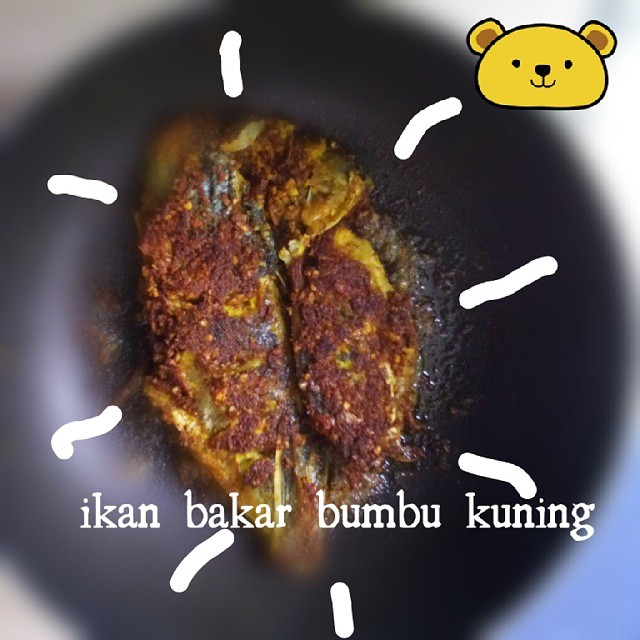 ikan bakar teflon bumbu kuning (muthe)
