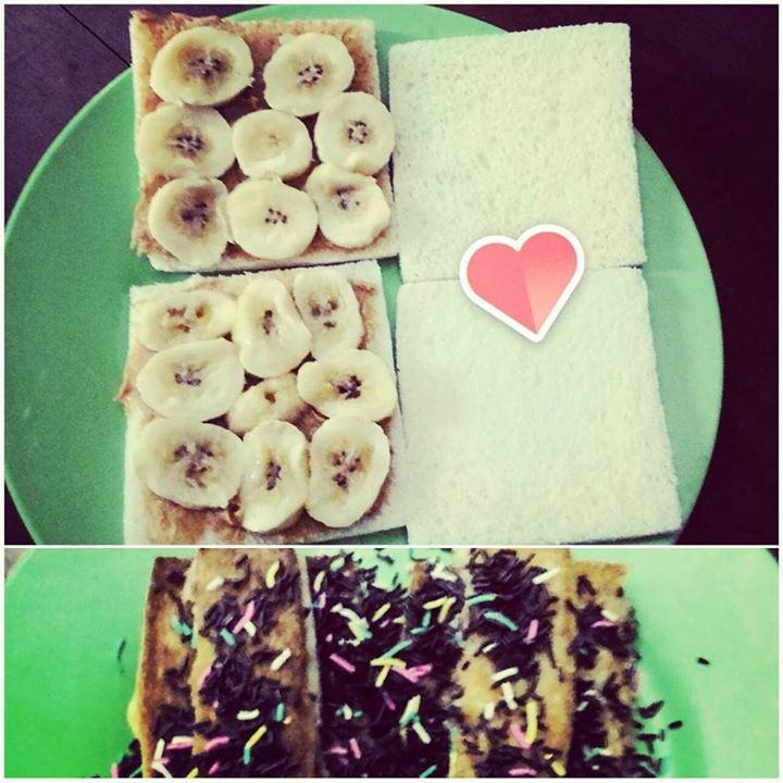 roti bakar pisang (muthe)