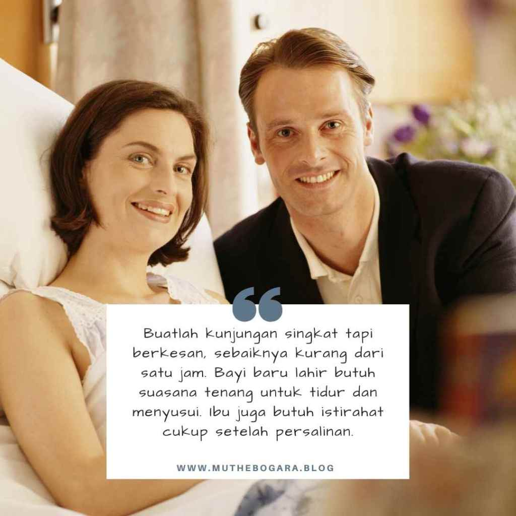 menjenguk bayi baru lahir di rumah sakit